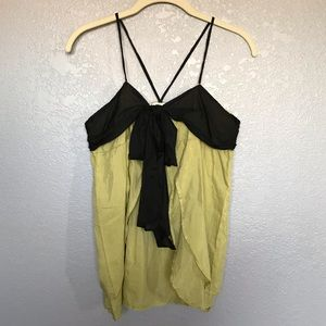 NWOT Trinity Green Black Airy Summer Top sz S
